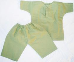 Boy Doll Clothes Olive Green Salwar and Qamis Set
