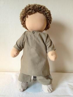 Boy Doll Clothes Khaki Salwar and Khamis